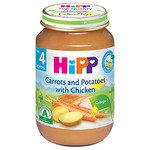 HIPP Био бебешко пюре моркови и картофи с пиле 4м+ 190 гр.